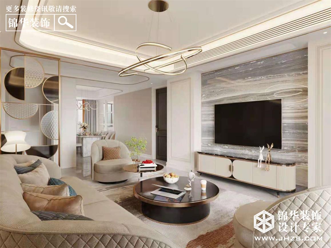 綠城御園-現代美式-140㎡-三室兩廳