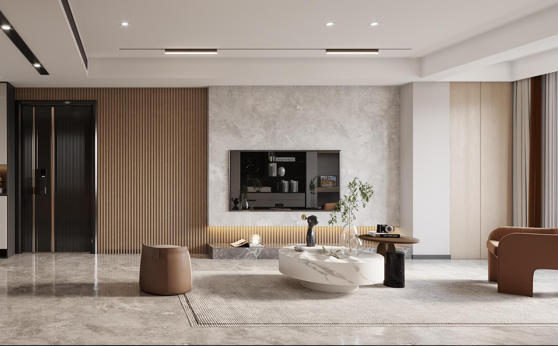 楓丹壹號-現代風-125㎡-三室兩廳